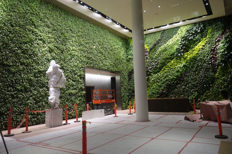 Living wall in Foundry III at 505 Howard Street