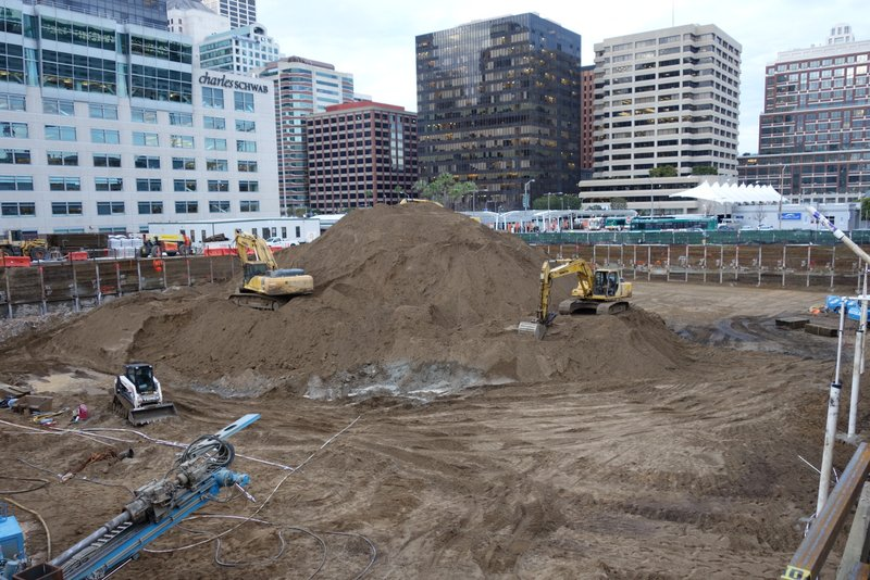 Excavation progressing At 299 Fremont Street