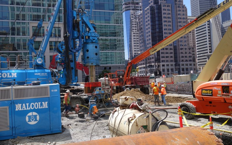 Crews Busily Prepare Foundation For 181 Fremont