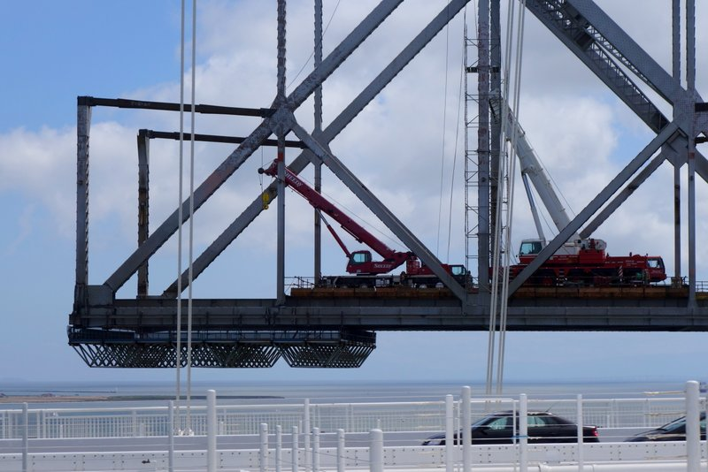Visible Progress On Old Eastern Bay Bridge
