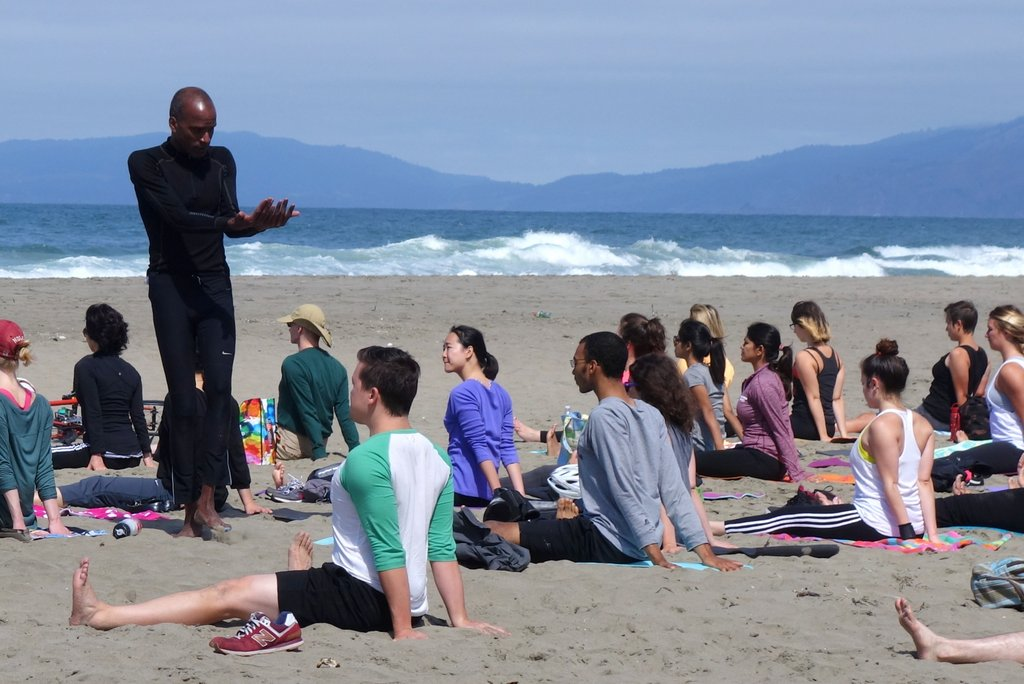 Yoga Teacher Tony Eason Brings Yoga To Ocean Beach