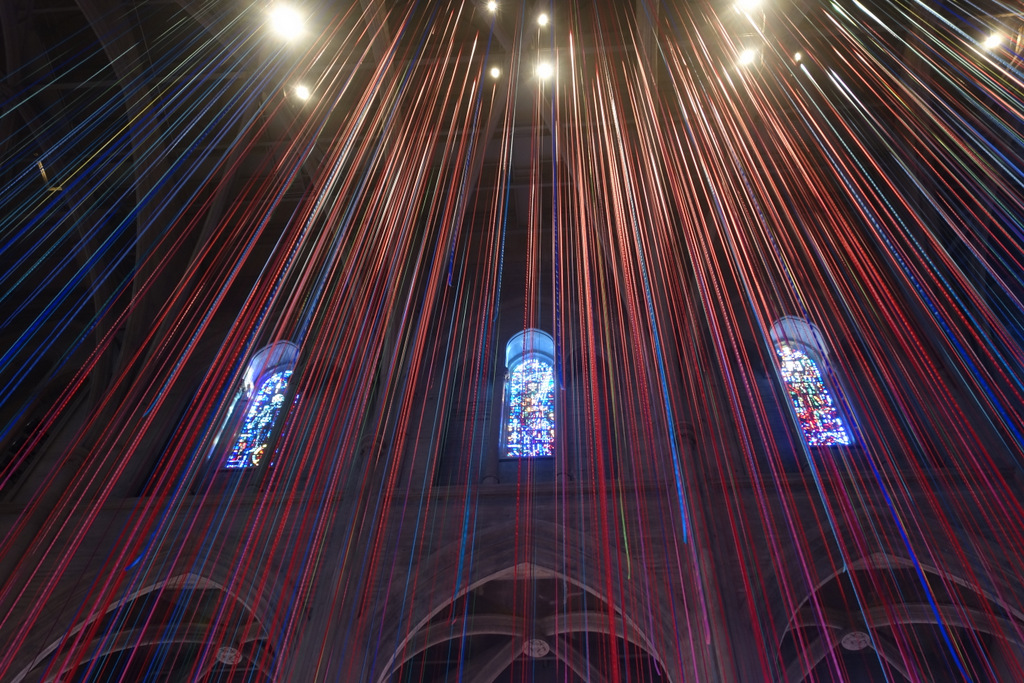 In Pictures – The Colorful Streamers Of Grace Cathedral