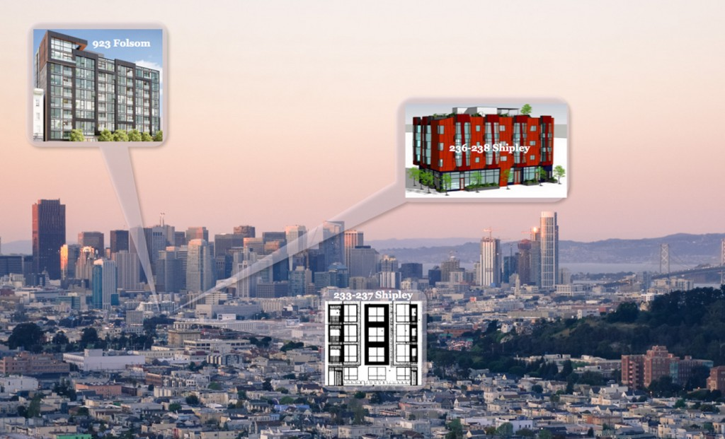 Trio Of Neighboring SoMa Sites Going Vertical