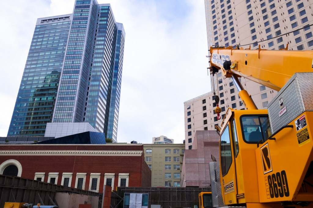 There's A Yellow Crane At 706 Mission Street