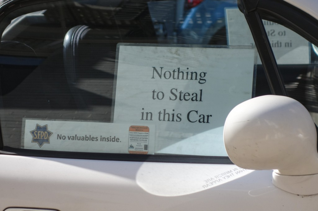 In Pictures – Nothing To Steal In This Car